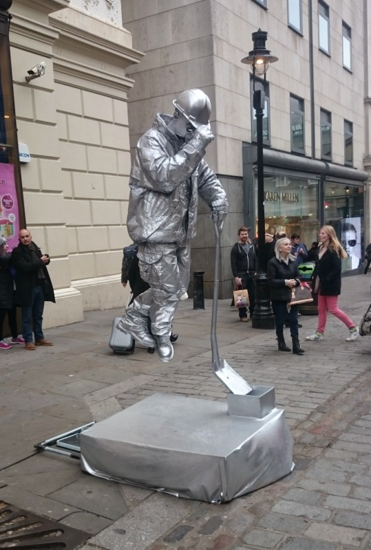 Silver street performer at Covent Garden.