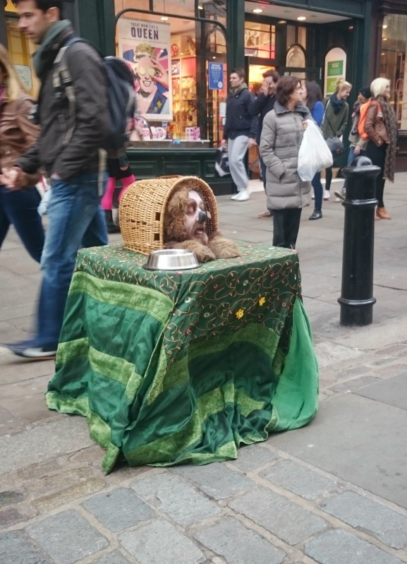 Street performer at Covent Garden