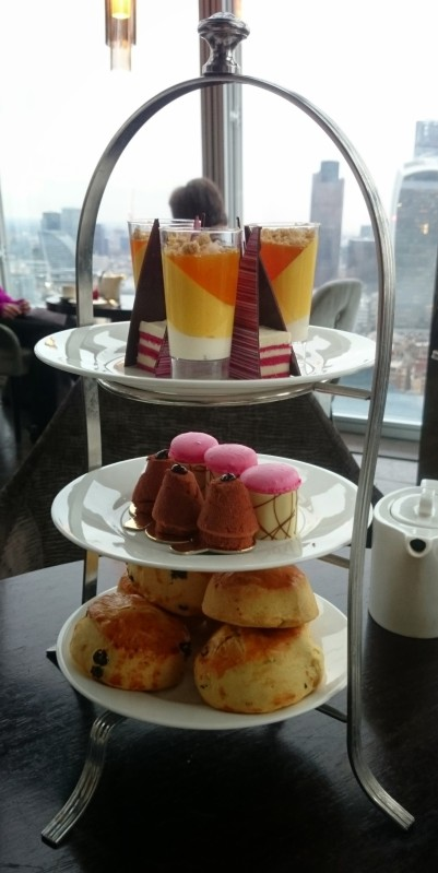 High tea at the Aqua Shard.