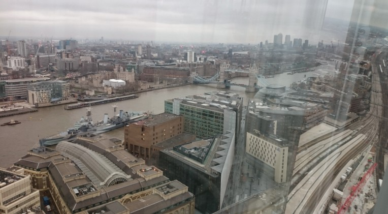 View from the Shard, Southwark, London.