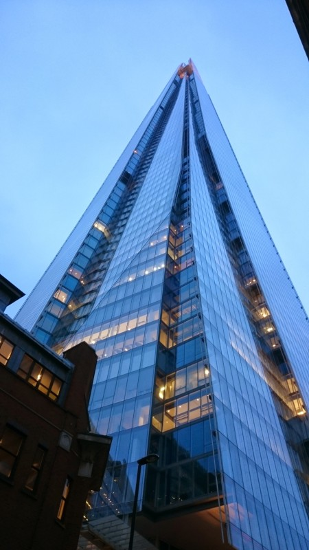 The Shard building, Southwark, London.