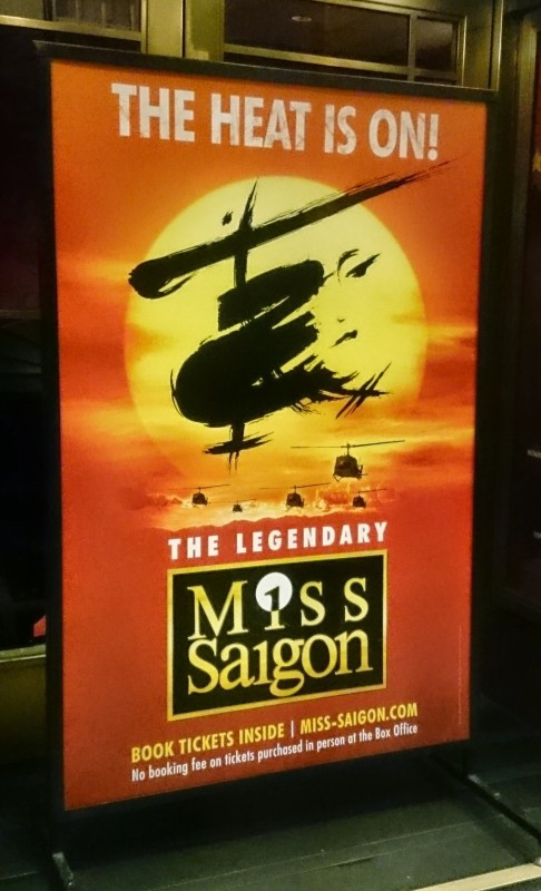 Saw the brilliant Miss Saigon at Prince Edward Theatre.