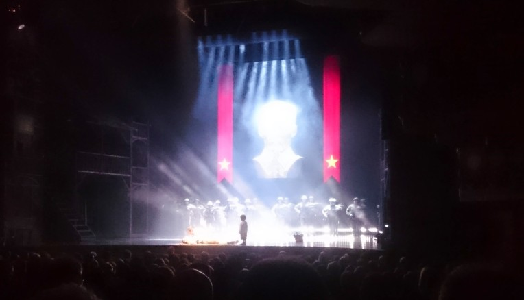 Miss Saigon showing at the Prince Edward Theatre, London.