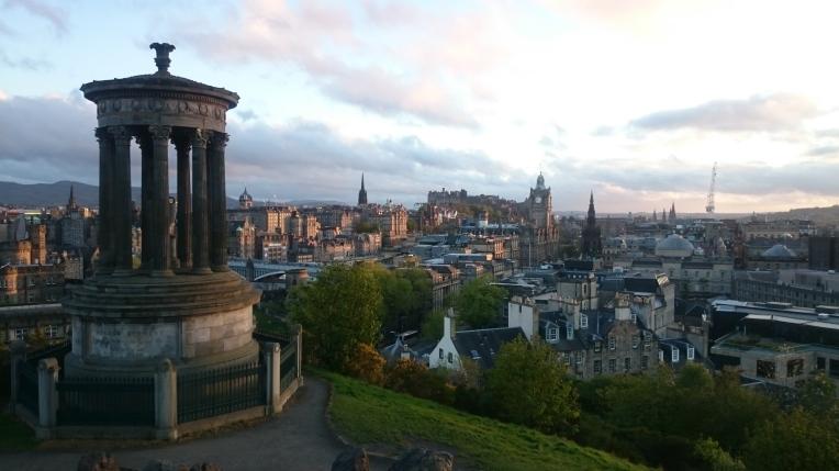 The view of Edinburgh from Calton Hill