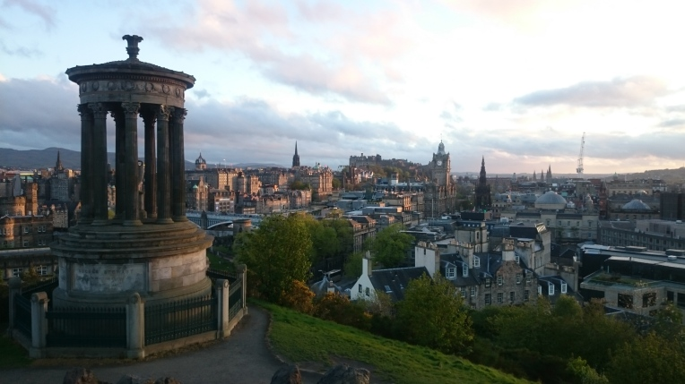 The view of Edinburgh from Calton Hill