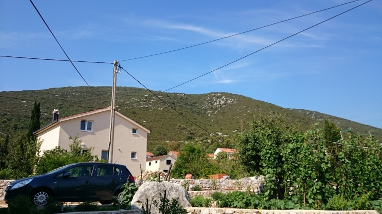 The view from where we were staying, in the small village of Hodilje (about an hour's drive north of Dubrovnik).