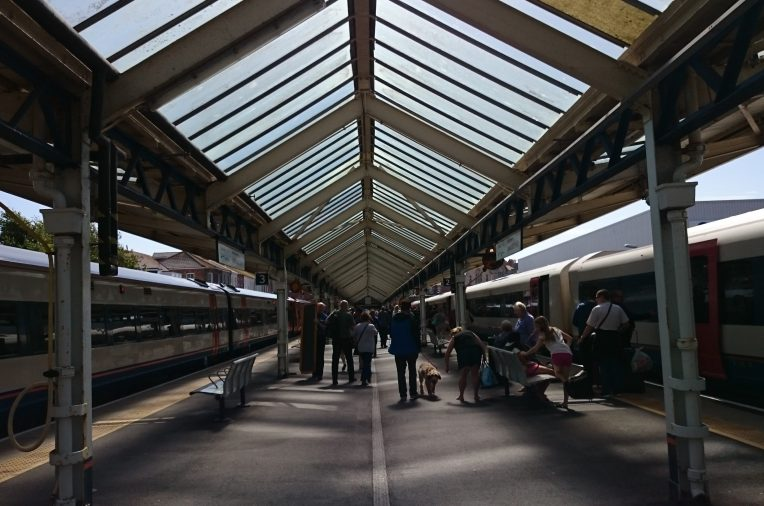 Loved the lines of the roof over Weymouth train station