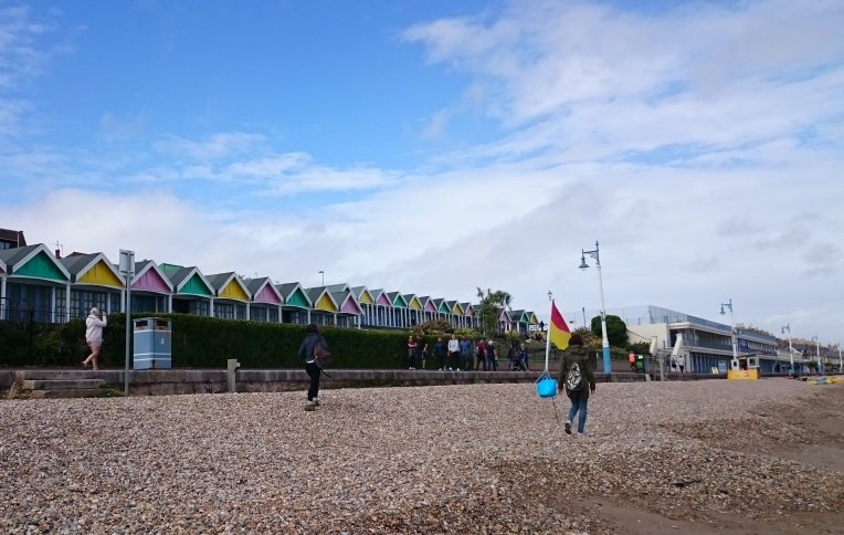 The cute coloured beach huts